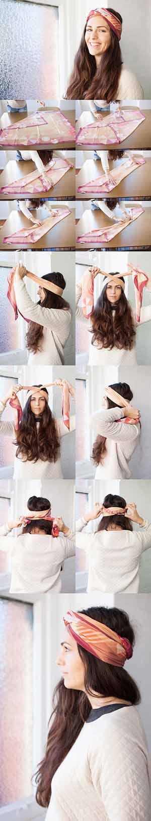 آموزش بستن روسری به عنوان یک هد بند